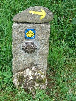 Directory, Signposts, Stone Marker, Stone, Jakobsweg
