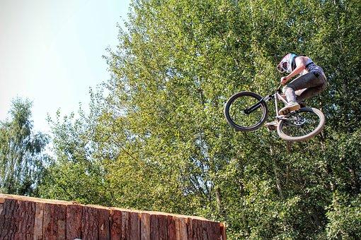 Bmx, Fly, Jump, Contest, Bike, Crossbike, Height