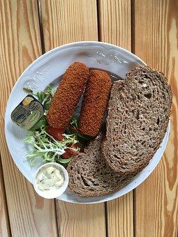 Croquette, Lunch, Sandwich, Tasty, Healthy, Food