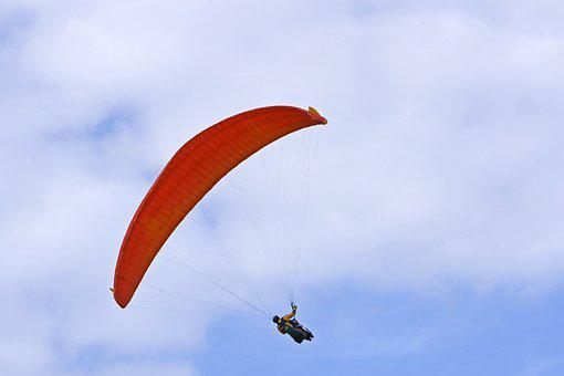 Flying, Parachute, Hang Glider, Gliders, Sky, Fly