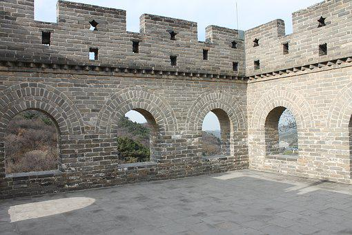 China, Great Wall, Coach, Buildup, Tower