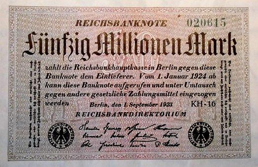 Inflationsgeld, 1923, Berlin, Imperial Banknote