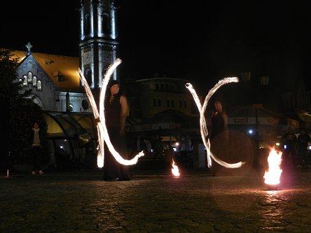 Fire, Night, Light, Preview, Performance, Artist, Burns