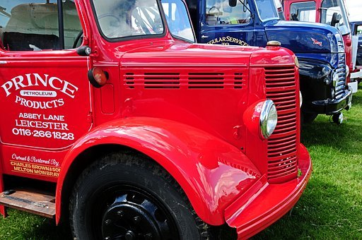 Lorry, Truck, Haulage, Red, Old, Vehicle, Vintage