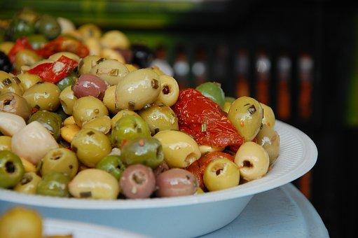 Market, Olives, Orient, Mediterranean, Stand
