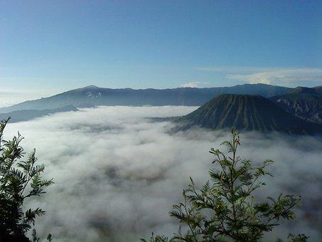 Mount, Shell, Bromo, Cloud