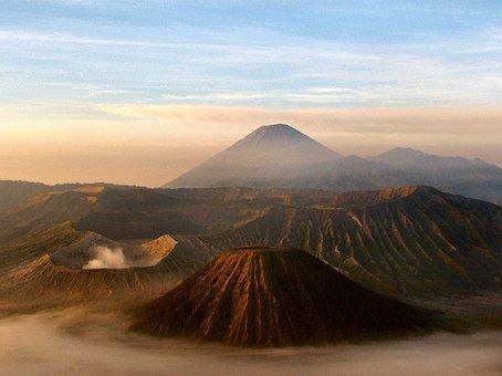 Volcano, Java, Indonesia, Mount Seremu, Mount Merapi