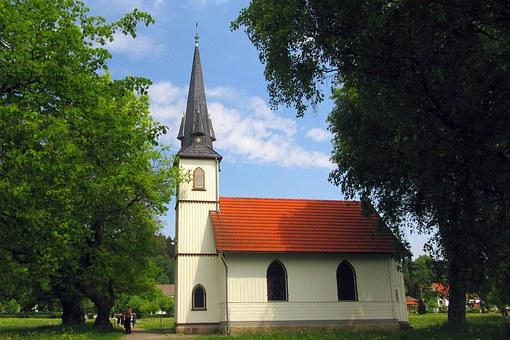 Church, Wooden Church, Architecture, Old, Steeple