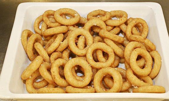 Onion Rings, Breaded, Deep-fried, Accessories, Garnish