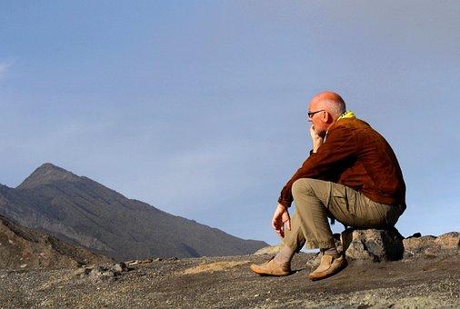 Man, Person, Tourist, Resting, Pause, Enjoying