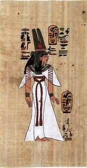 Papyrus, Pharaonic, Old, Hieroglyphics