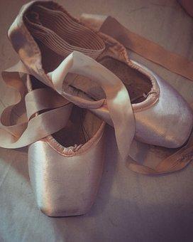 Ballet, Pink, Ballerina, Dance, Pointe, Shoes, Happy