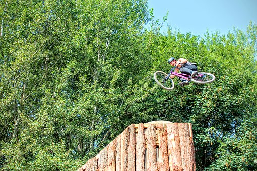 Plunge, Bmx, Wheel, Bike, Flying, Halfpipe, Stunt