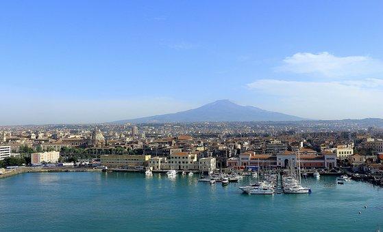 Etna, Sicily, Port, Volcano, Catania