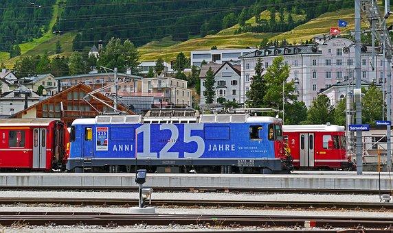 Rhaetian Railways, Switzerland, Anniversary, 125 Years