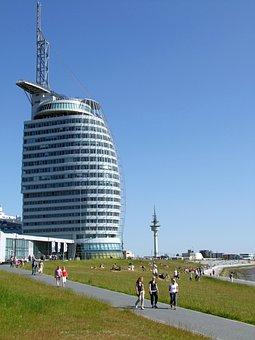 Bremerhaven, Building, Architecture, Sail City Hotel