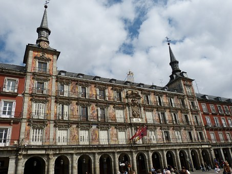 Plaza Mayor, Madrid, Spain, Space, Town Hall
