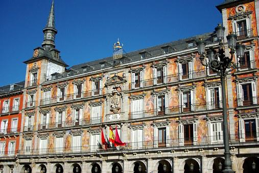 Spain, Madrid, Plaza Mayor, Facades, Coat Of Arms