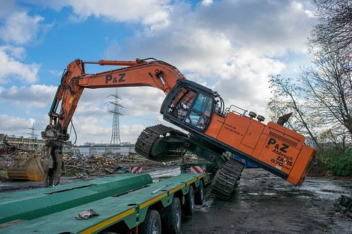 Excavators, Stunt, Construction Machine, Transport