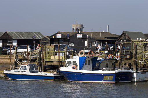 Southwold Harbour, Suffolk, Uk, Fishing Boat