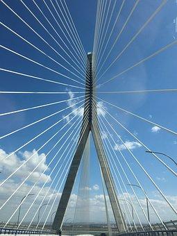 Suspension Bridge, Perspectives, Tensioners, Column