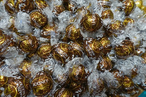 Sweets, Chocolate, Candy, Balls, Wrapped, Bonbon