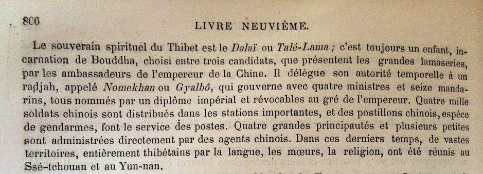 Appointment Of The Dalai Lama, 1876, Translation