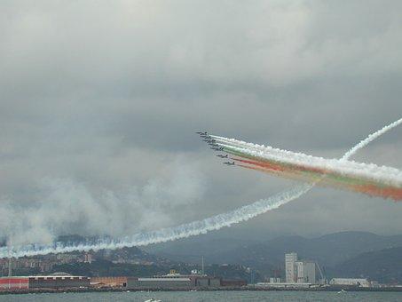Tricolor Arrows, Aircraft, Italy, Aerobatic Team, Stunt