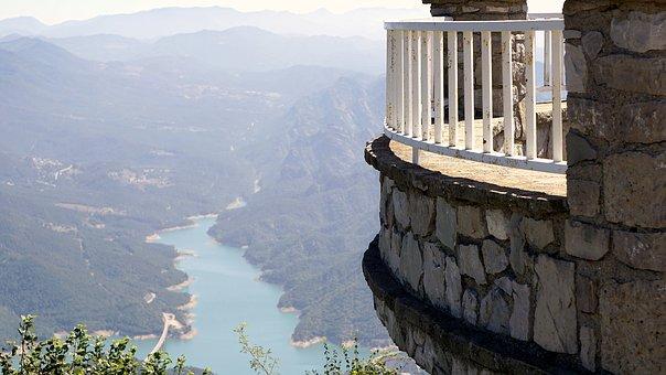 Viewpoint, Landscape, Horizon, Water, Mountain