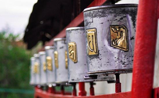 Prayer Wheel, Religion, Wheel, Buddhism, Tibetan