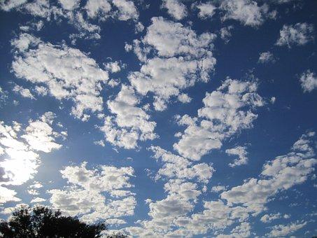 Clouds, White, Fine, Clumped, Dainty, Fleece, Light