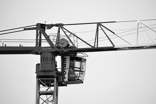 Crane, Work, Site, Gear, Lifting, Building