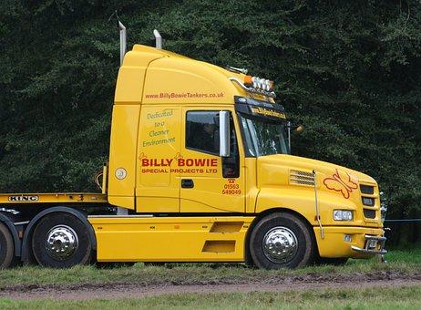 Lorry, Truck, Cab, Haulage, Transportation, Yellow