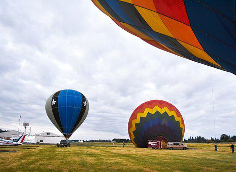 Hot, Air, Balloon, Sky, Floating, Colorful, Summer