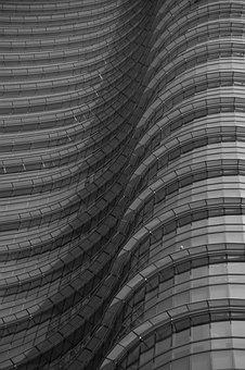 Skyscraper, Architecture, Texture, City, Milan