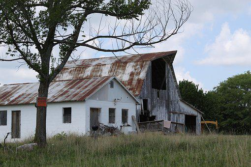Barn, Farm, Countryside