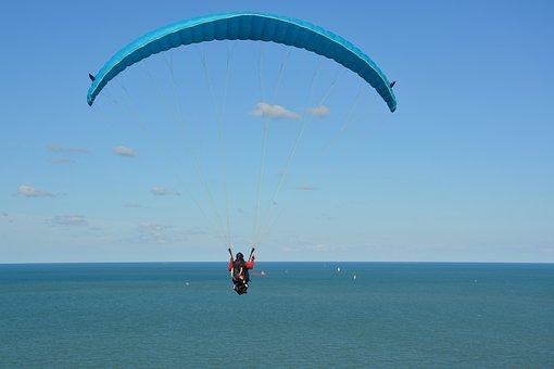 Paragliding, Paraglider, Adventure, Sport, Blue Sky