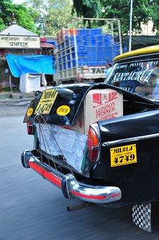 Mumbai, Cab, Taxi, India