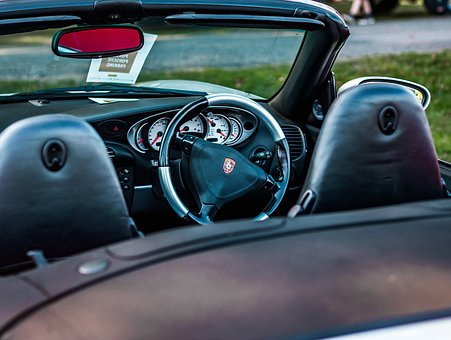 Porsche, Porsche 911, Steering Wheel, Interior, Car