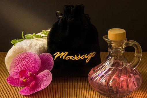 Wellness, Carafe, Purple, Yellow, Towel, Rolled, Herbs