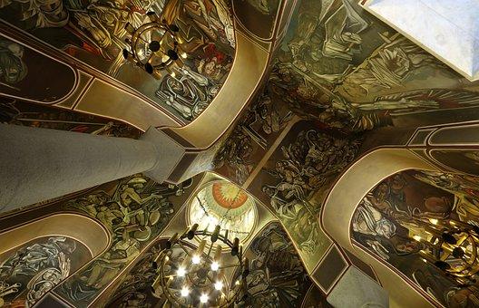 Bulgaria, Veliko Tarnovo, Church, Ceiling, Dome