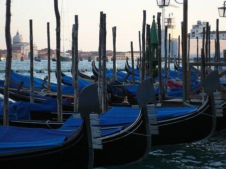 Venice, Gondolas, Italy, Channel, Travel