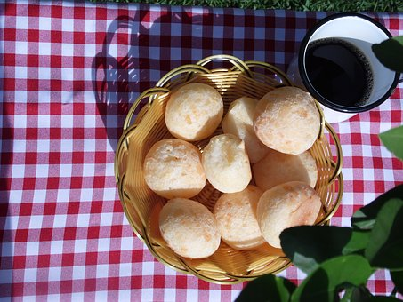 Cheese Bread, Snack, Breakfast, Basket, Mug