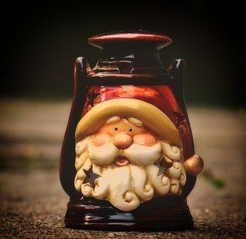 Christmas, Lamp, Windlight, Ceramic, Decoration