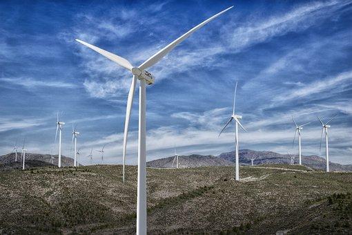 Park Wind Farm, Wind, Clouds, Energy, Mills, Almeria