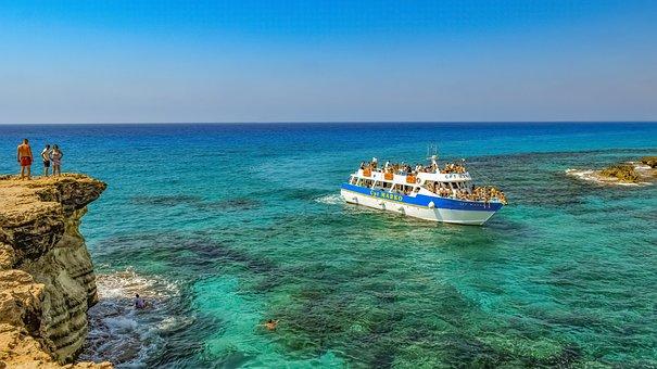 Cyprus, Cavo Greko, Nature, Landscape, Sea, Rock