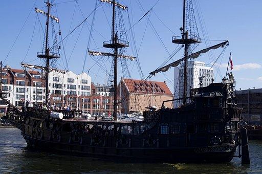 Ship, The Mast, Cove, Swim, Tour, Cruise, Gdańsk