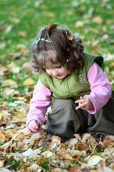 Child, Girl, Laugh, Autumn, Leaves, Cute, Happy