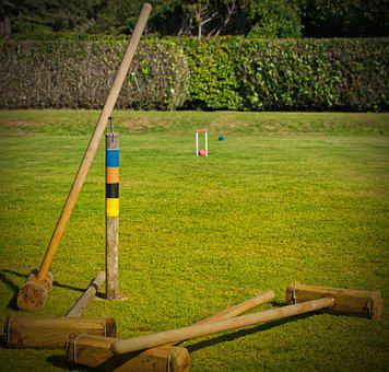 Croquet, Garden, Play, Sport, Ball, Gates, Kick, Grass