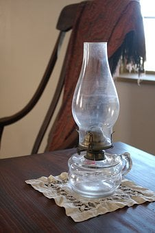 Vintage, Lantern, Light, Oil, Kerosene, Lamp, Glass
